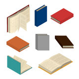 Isometric colorful books set Royalty Free Stock Photography