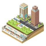 Isometric Colorful Cityscape Concept Stock Photos