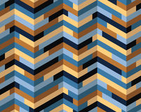 Isometric colorful pattern. Isometric three-dimensional background looking like a brick wall Royalty Free Stock Photo