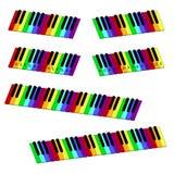 Isometric colorful piano keyboard set Stock Photo