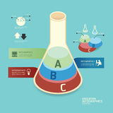 Isometric colorful test tube infographicd Modern Design . Royalty Free Stock Images