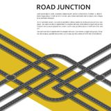 Isometric complex road junction with place for text. Top view. Vector illustration Stock Photo