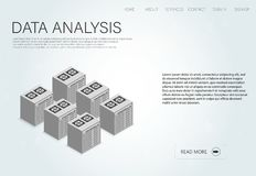 Modern data, great design for any purposes. Analysis icon, vector illustration. Business data graphs. Isometric computer technology data analysis. Ai concept Royalty Free Stock Images