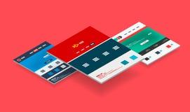 Isometric concept of web site design templates Stock Image