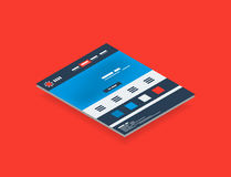 Isometric concept of web site design templates Stock Images