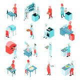 Isometric cooking set Royalty Free Stock Photography