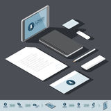 Isometric corporate identity template Royalty Free Stock Photography