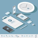 Isometric corporate identity template Royalty Free Stock Image