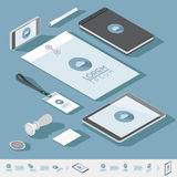 Isometric corporate identity template Royalty Free Stock Photos