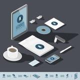Isometric corporate identity template Royalty Free Stock Photos
