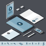 Isometric corporate identity template Royalty Free Stock Images
