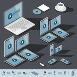 Isometric corporate identity template Stock Image