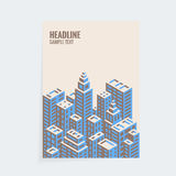 Isometric cover design template. A4 vector isometric cover design template for booklet, brochure or book royalty free illustration