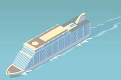 Isometric cruise ship Royalty Free Stock Photography