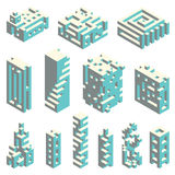 Isometric cubes architecture Royalty Free Stock Photo