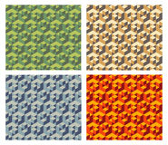 Isometric cubes pattern Royalty Free Stock Photos