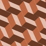 Isometric cubes repeatable pattern. 3D background. Vector. EPS Royalty Free Stock Image