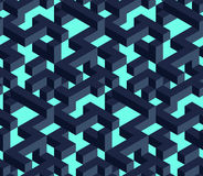 Isometric cubes Seamless pattern. Vector pattern for projects as web elements and backgrounds royalty free illustration
