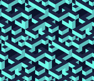 Isometric cubes Seamless pattern. Stock Image
