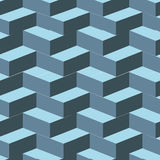 Isometric cubes seamlessly repeatable pattern. 3D background. Vector. EPS Stock Photo