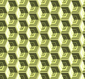 Isometric cubes seamlessly repeatable pattern. 3D background. Vector. EPS Royalty Free Stock Image