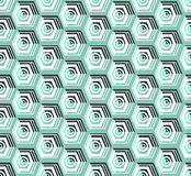 Isometric cubes seamlessly repeatable pattern. 3D background. Vector. EPS Royalty Free Stock Photo