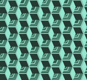 Isometric cubes seamlessly repeatable pattern. 3D background. Vector. EPS Stock Image