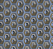 Isometric cubes seamlessly repeatable pattern. 3D background. Vector. EPS Royalty Free Stock Photography