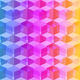 Isometric cubes seamlessly repeatable pattern. 3D background. Vector. EPS Stock Photography
