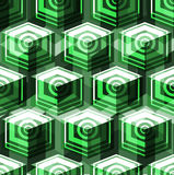 Isometric cubes seamlessly repeatable pattern. 3D background. Vector Royalty Free Stock Images