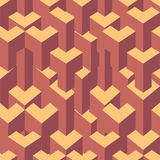 Isometric cubes seamlessly repeatable pattern. 3D background. Vector. EPS Royalty Free Stock Images