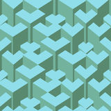 Isometric cubes seamlessly repeatable pattern. 3D background. Vector. EPS Royalty Free Stock Photos