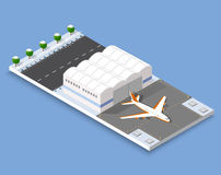 Isometric 3D airstrip Royalty Free Stock Photo