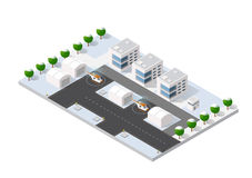 Isometric 3D airstrip Stock Photography