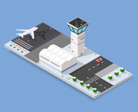 Isometric 3D airstrip Royalty Free Stock Photography