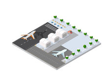 Isometric 3D airstrip Royalty Free Stock Image