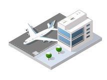 Isometric 3D airstrip Stock Photo