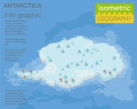 Isometric 3d Antarctica physical map elements. Build your own ge vector illustration