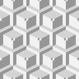 Isometric 3d  Background. With Cubes. Futuristic Geometric Seamless Pattern. Optical Illusion of Volume Stock Photography