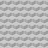 Isometric 3d  Background. With Cubes. Futuristic Geometric Seamless Pattern. Optical Illusion of Volume Royalty Free Stock Images