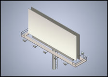 Isometric 3d billboard Zdjęcia Stock