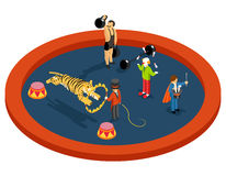 Isometric 3d circus characters. Animal trainer Stock Photo