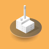 Isometric 3D city icons. Isometric 3D city icon with houses, factory, industry, buildings for Web sites and applications Royalty Free Stock Image