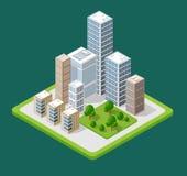 Isometric 3D city icons Stock Photos