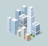 Isometric 3D city Stock Photos
