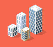 Isometric 3D city Royalty Free Stock Photography