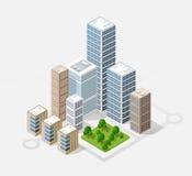 Isometric 3D city Royalty Free Stock Photo