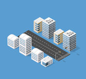 Isometric 3D city Stock Images