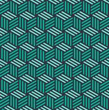 Isometric 3d cube seamless pattern background Royalty Free Stock Photos