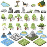 Isometric 3d element Royalty Free Stock Photo